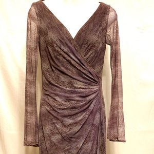 Tadashi Shoji XS Snake Print Full Sleeves Dress